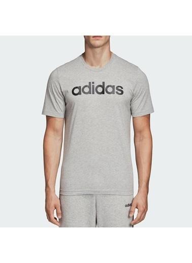 adidas E Lin Tee Gri Erkek T-Shirt Gri